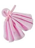 Toalha cor-de-rosa Fotografia de Stock