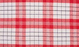 Toalha de cozinha vermelha e branca Imagem de Stock