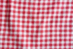 Toalha de mesa de linho vermelha do piquenique Fotografia de Stock