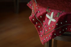 Toalha de mesa velha Imagem de Stock Royalty Free