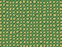 Toalha de mesa verificada verde e amarela da tela Foto de Stock