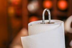 Toalha de papel descartável na cozinha foto de stock royalty free