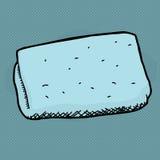 Toalha de rosto azul Imagens de Stock Royalty Free