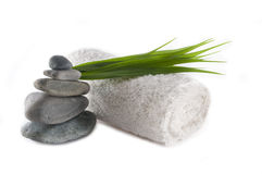Toalha e rochas Foto de Stock