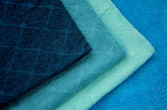 Toalhas azuis Fotografia de Stock Royalty Free
