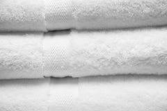 Toalhas brancas Imagem de Stock