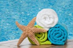 Toalhas coloridas Fotografia de Stock