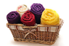 Toalhas coloridas Foto de Stock
