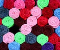 Toalhas coloridas Fotos de Stock Royalty Free