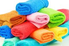 Toalhas coloridas Imagens de Stock