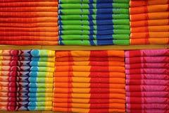 Toalhas coloridas Imagem de Stock
