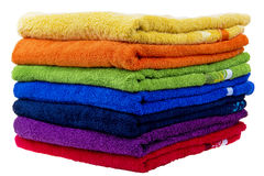 Toalhas coloridas, algodão terry Fotografia de Stock