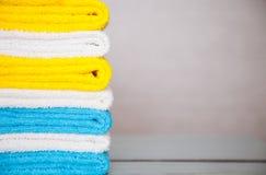 Toalhas coloridas do algodão Imagens de Stock Royalty Free