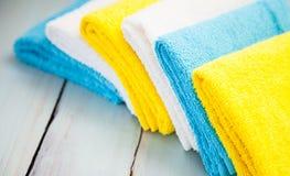 Toalhas coloridas do algodão Imagem de Stock Royalty Free
