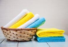 Toalhas coloridas do algodão Foto de Stock