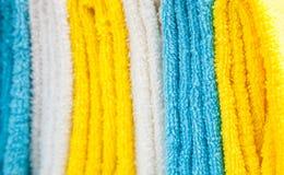 Toalhas coloridas do algodão Fotografia de Stock