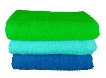 Toalhas coloridas dos termas Imagens de Stock Royalty Free