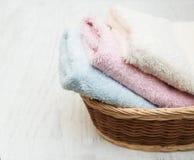Toalhas coloridas dos termas Foto de Stock