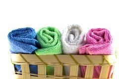 Toalhas coloridas nos rolos Imagem de Stock Royalty Free