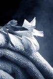 Toalhas com flor imagem de stock