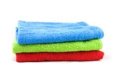 Toalhas de banho coloridas Foto de Stock Royalty Free