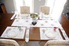 Toalhas de mesa feitos à mão Foto de Stock Royalty Free