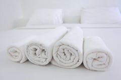 Toalhas do hotel Fotografia de Stock