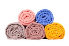 Toalhas dobradas coloridas Fotos de Stock