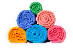 Toalhas dobradas coloridas Imagem de Stock
