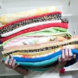 Toalhas limpas Foto de Stock