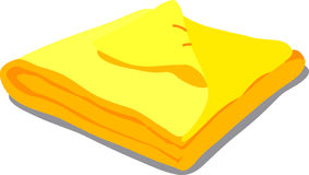 Toalla amarilla en blanco Fotografía de archivo libre de regalías