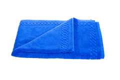 Toalla azul fotografía de archivo libre de regalías