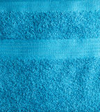 Toalla azul Fotografía de archivo