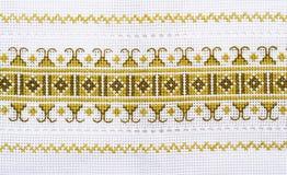 Toalla bordada Imagen de archivo libre de regalías
