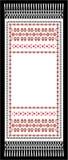 Toalla bordada con una cruz Fotos de archivo libres de regalías