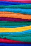 Toalla colorida del algodón Foto de archivo libre de regalías