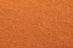 Toalla de baño anaranjada Foto de archivo