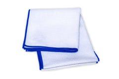 Toalla de mano azul y blanca Fotos de archivo libres de regalías