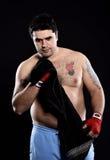 Toalla de mano del boxeador Imagen de archivo