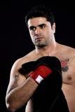 Toalla de mano del boxeador Imagenes de archivo