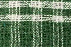Toalla de té de la tela escocesa Fotografía de archivo libre de regalías