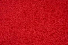 Toalla de Terry roja Fotografía de archivo