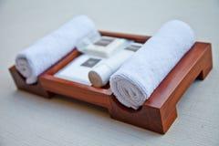 Sistema de la toalla Imagen de archivo libre de regalías