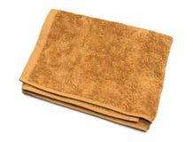 Toalla plegable marrón clara Fotos de archivo