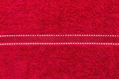 Toalla roja Foto de archivo libre de regalías