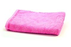 Toalla rosada Imágenes de archivo libres de regalías