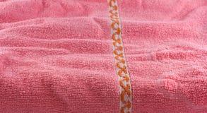 Toalla suave rosada Fotos de archivo