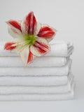 Toallas blancas Fotos de archivo
