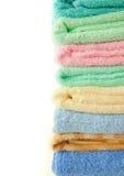 Toallas coloridas Fotos de archivo