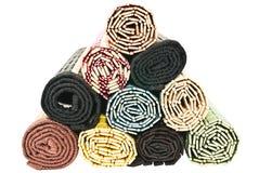 Toallas de bambú Foto de archivo libre de regalías